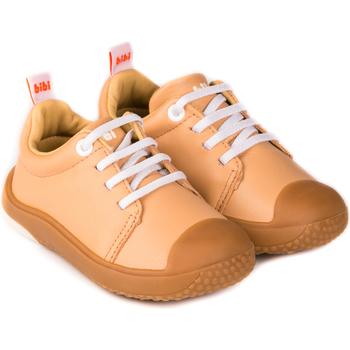 Pantofi Fete Pantofi sport Casual Bibi Shoes Pantofi Unisex Bibi Prewalker Sampanie cu Siret Elastic Crem