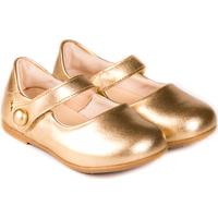 Pantofi Fete Balerin și Balerini cu curea Bibi Shoes Balerini Fete BIBI Anjos Mini Gold Auriu