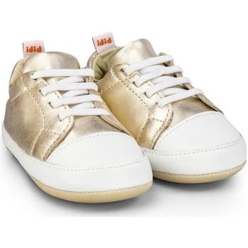 Pantofi Fete Pantofi sport Casual Bibi Shoes Pantofi fetite Bibi Afeto Joy Gold cu Siret Elastic Auriu