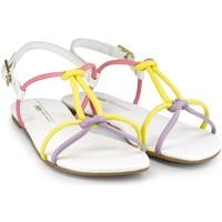 Pantofi Fete Sandale  Bibi Shoes Sandale Fete BIBI Little Me Color Alb