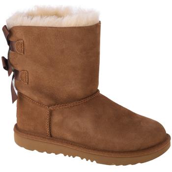 Pantofi Copii Cizme de zapadă UGG Bailey Bow II Kids Marron
