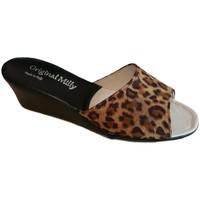 Pantofi Femei Papuci de vară Milly MILLY103animal nero