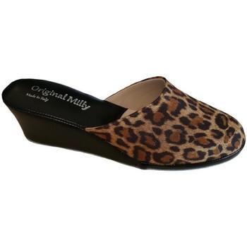 Pantofi Femei Papuci de vară Milly MILLY5000animal nero