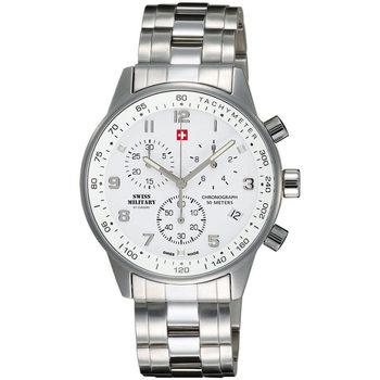 Ceasuri & Bijuterii Bărbați Ceasuri Analogice Swiss Military By Chrono SM34012.02, Quartz, 41mm, 5ATM Argintiu