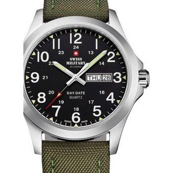 Ceasuri & Bijuterii Bărbați Ceasuri Analogice Swiss Military By Chrono SMP36040.05, Quartz, 42mm, 5ATM Argintiu