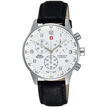 Ceasuri & Bijuterii Bărbați Ceasuri Analogice Swiss Military By Chrono SM34012.06, Quartz, 41mm, 5ATM Argintiu