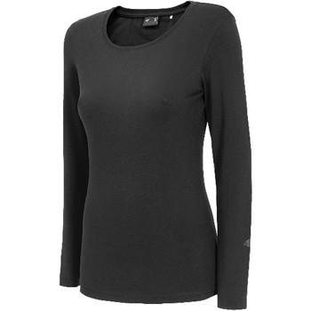 Îmbracaminte Femei Tricouri cu mânecă lungă  4F Women's Longsleeve Noir