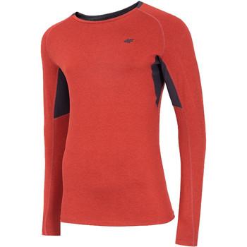 Îmbracaminte Bărbați Tricouri cu mânecă lungă  4F Men's Functional Longsleeve Rouge