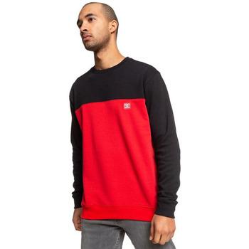Îmbracaminte Bărbați Bluze îmbrăcăminte sport  DC Shoes Rebel Crew Block 3 Red/black Rosu