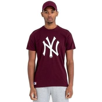 Îmbracaminte Bărbați Tricouri mânecă scurtă New-Era Team Logo New York Yankees Maro