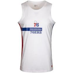 Îmbracaminte Bărbați Maiouri și Tricouri fără mânecă New-Era Nba Philadelphia 76ERS Alb