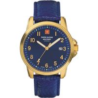 Ceasuri & Bijuterii Bărbați Ceasuri Analogice Swiss Alpine Military 7011.1515, Quartz, 40mm, 10ATM Auriu