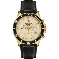 Ceasuri & Bijuterii Bărbați Ceasuri Analogice Swiss Alpine Military 7022.9511, Quartz, 42mm, 10ATM Auriu