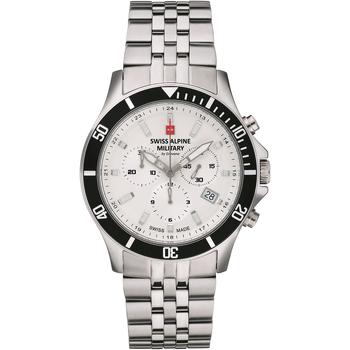 Ceasuri & Bijuterii Bărbați Ceasuri Analogice Swiss Alpine Military 7022.9132, Quartz, 42mm, 10ATM Argintiu