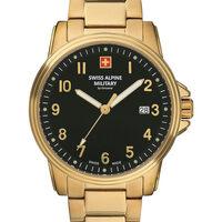 Ceasuri & Bijuterii Bărbați Ceasuri Analogice Swiss Alpine Military 7011.1117, Quartz, 40mm, 10ATM Auriu