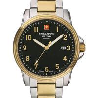 Ceasuri & Bijuterii Bărbați Ceasuri Analogice Swiss Alpine Military 7011.1147, Quartz, 42mm, 10ATM Argintiu