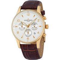 Ceasuri & Bijuterii Bărbați Ceasuri Analogice Jacques Lemans 1-1654D, Quartz, 40mm, 10ATM Auriu