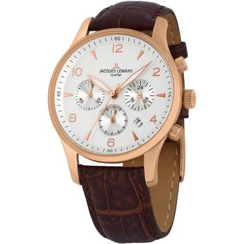 Ceasuri & Bijuterii Bărbați Ceasuri Analogice Jacques Lemans 1-1654H, Quartz, 40mm, 10ATM Auriu
