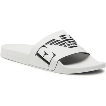 Pantofi Bărbați Șlapi Emporio Armani X4PS06 XM760 White black