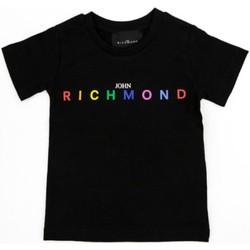 Îmbracaminte Fete Tricouri mânecă scurtă Richmond Kids RGP21123TS Black