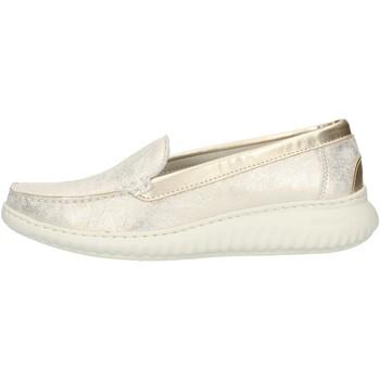 Pantofi Femei Mocasini Notton 3117 Platinum