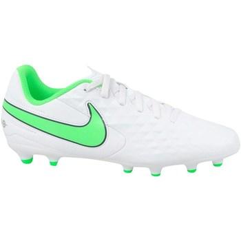 Pantofi Copii Fotbal Nike JR Tiempo Legend 8 Club MG Alb, Verde