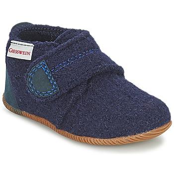 Pantofi Băieți Papuci de casă Giesswein OBERSTAUFEN Albastru