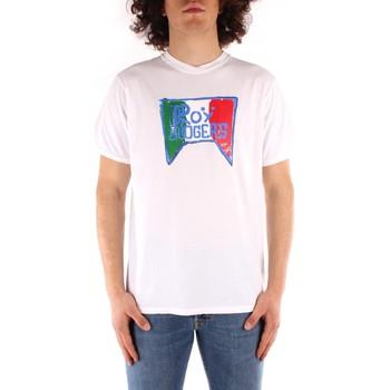 Îmbracaminte Bărbați Tricouri mânecă scurtă Roy Rogers P21RRU513C7480013 WHITE
