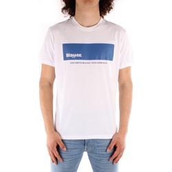 Îmbracaminte Bărbați Tricouri mânecă scurtă Blauer 21SBLUH02132 WHITE