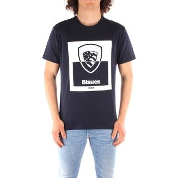 Îmbracaminte Bărbați Tricouri mânecă scurtă Blauer 21SBLUH02131 BLUE