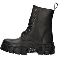 Pantofi Ghete New Rock WALL026NBASA BLACK