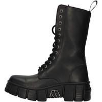 Pantofi Ghete New Rock WALL027NBASA BLACK