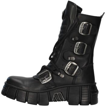 Pantofi Ghete New Rock WALL028N BLACK