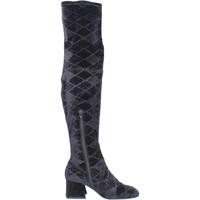 Pantofi Femei Cizme lungi peste genunchi Apepazza Cizme BJ801 Negru