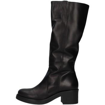 Pantofi Femei Cizme lungi peste genunchi Unica 10187 BLACK