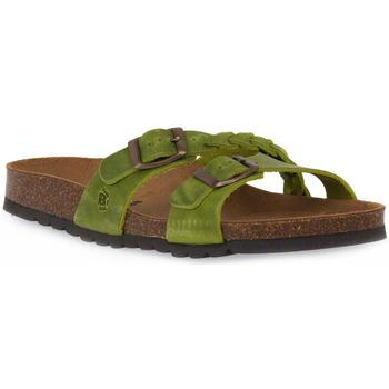 Pantofi Femei Papuci de vară Bioline 233 ALOHE INGRASSATO Verde