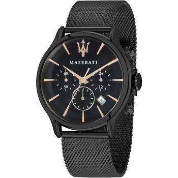 Ceasuri & Bijuterii Bărbați Ceasuri Analogice Maserati R8873618006, Quartz, 42mm, 10ATM Negru