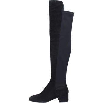 Pantofi Femei Cizme lungi peste genunchi Elvio Zanon BJ808 Negru