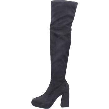Pantofi Femei Cizme lungi peste genunchi Elvio Zanon BJ810 Negru