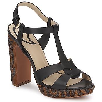Încăltăminte Femei Sandale și Sandale cu talpă  joasă Etro NU-PIEDS 3763 Negru