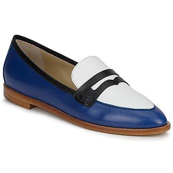 Pantofi Femei Mocasini Etro MOCASSIN 3767 Albastru / Negru / Alb