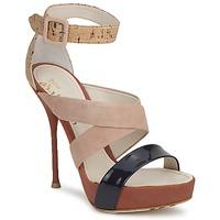 Pantofi Femei Sandale  John Galliano AN6363 Roz / Albastru / Bej