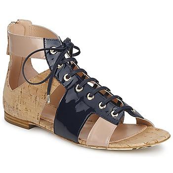 Pantofi Femei Sandale  John Galliano AN6379 Albastru / Bej / Roz