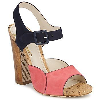 Pantofi Femei Sandale  John Galliano AN3571 Roz / Bleumarin