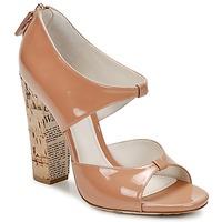 Pantofi Femei Sandale  John Galliano AN6364 Roz / Bej