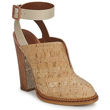 Pantofi Femei Saboti John Galliano AN9211 Bej