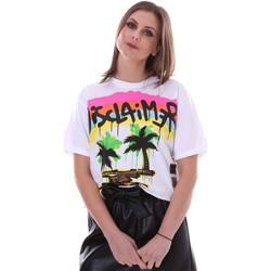 Îmbracaminte Femei Tricouri mânecă scurtă Disclaimer 21EDS50632 Alb