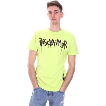 Îmbracaminte Bărbați Tricouri mânecă scurtă Disclaimer 21EDS50565 Verde