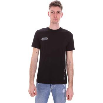 Îmbracaminte Bărbați Tricouri mânecă scurtă Disclaimer 21EDS50517 Negru