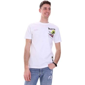 Îmbracaminte Bărbați Tricouri mânecă scurtă Disclaimer 21EDS50522 Alb